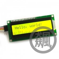 Arduino IIC/I2C 1602黃綠液晶模組